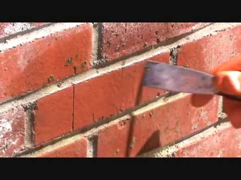 How to clean concrete residue from a brick work wall for How do you clean concrete