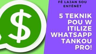 Gambar cover 5 teknik pou itilize whatsapp tankou yon pro