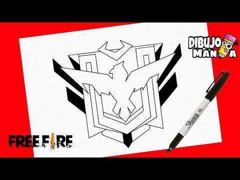 Como Dibujar El Logo Heroico De Free Fire Youtube