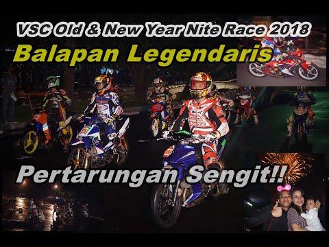 Serunya Balap Malam Tahun Baru 2019 di Sirkuit Stadion Mandala Krida, Yogyakarta