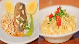 سمك لوت باللوز - مكرونة بالبلوتشيز | شبكة و صنارة حلقة كاملة