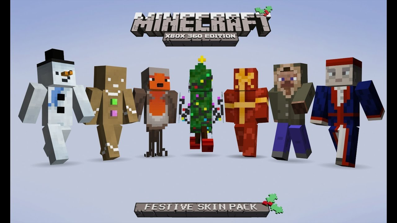 How To Download The Festive Skin Pack For Minecraft (PS3) - YouTube