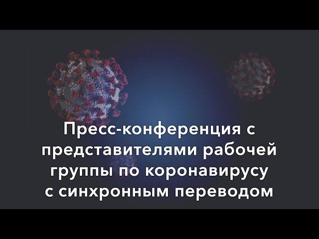 Прямая трансляция пресс-конференции рабочей группы по коронавирусу (20 марта)
