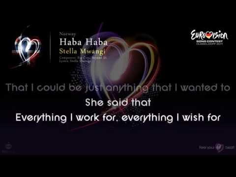 "Stella Mwangi - ""Haba Haba"" (Norway) - [Karaoke version]"