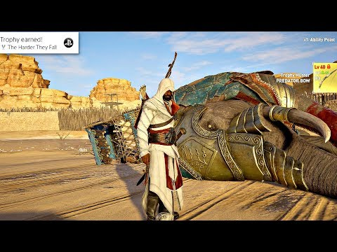 Assassin's Creed Origins  All Secret Level 40 Elephant Boss Locations Legendary Outfit  Weapons