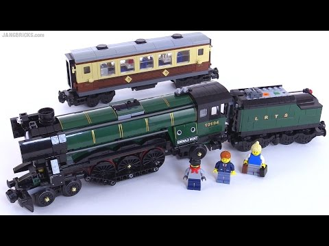 LEGO Emerald Night train from 2009 reviewed! set 10194 - YouTube