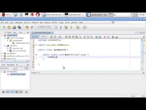Add org json library, java-json jar, to NetBeans Java project  Run on  Raspberry Pi