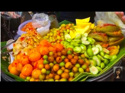 Asian Street Food, Market Street Food Combination In Cambodia, Wet Market In Asia