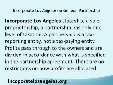 Incorporate Los Angeles on General Partnership.wmv