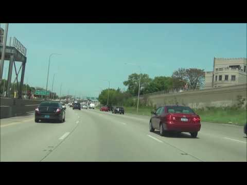 Illinois - Interstate 94 West - Mile Marker 50 to 40 (5/21/16)
