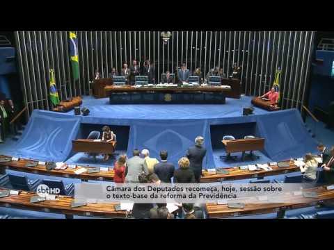 Sessão sobre o texto-base da reforma da Previdência recomeça hoje na Câmara dos Deputados