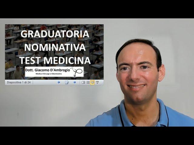 GRADUATORIA NOMINATIVA TEST MEDICINA 2021 E PUNTEGGIO MINIMO EFFETTIVO (VIDEO)