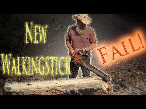 Carving A New Walking Stick. FAIL!