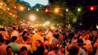 Huge Beer Garden Party In Germany Of Europe