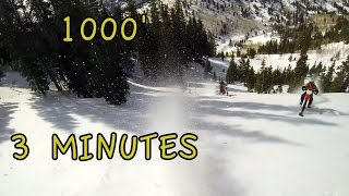 TS 73 - 1000' in 3 Minutes - Timbersled Mtn Horse Snow Bike CRF450