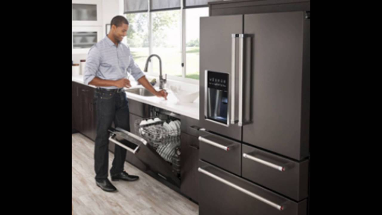 Attirant KitchenAidu0027s Black Stainless Steel Appliances   YouTube