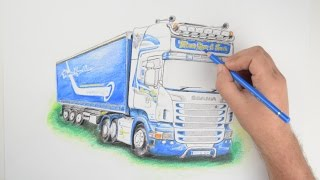 Scania R560 - Drawing Timelapse