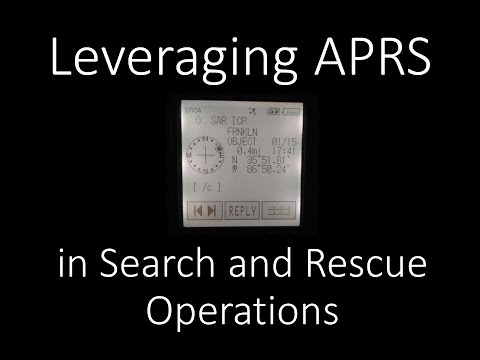 Leveraging APRS in Search and Rescue (SAR) Operations