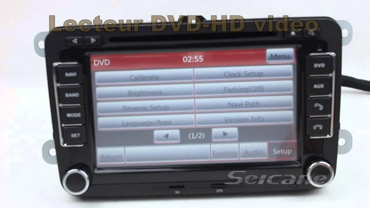7 pouces 2 din autoradio dvd gps bluetooth pour volkswagen w t5