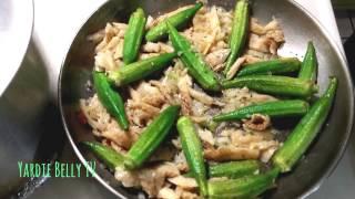 Saltfish And Okras Cook Down