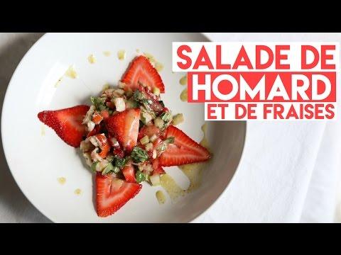 salade-fraÎche-de-homard-et-fraises-🍓-trop-facile-À-cuisiner-🍴recette-lÉgÈre