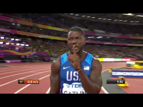 Download Youtube: Gatlin wins 100m as Bolt finishes third caused a major upset