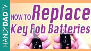 How to Replace Key Fob Batteries - Honda Pilot and Toyota Prius