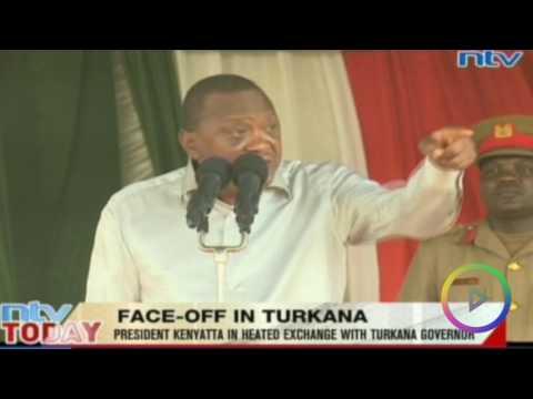 RAW: President Kenyatta & Governor Nanok slug it out in public.