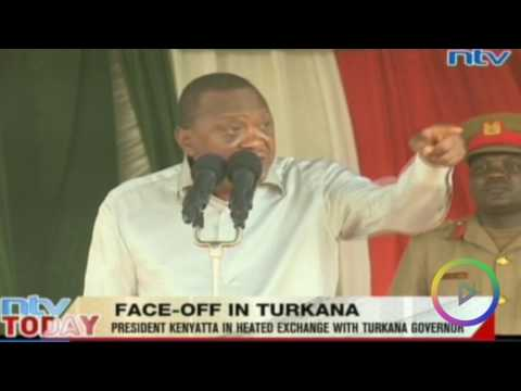 RAW: President Kenyatta & Governor Nanok slug it out in public