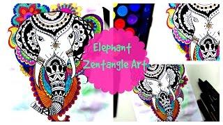 Draw An Elephant Zentangle -Tribal Art