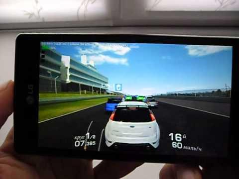 LG Optimus 4X HD - Real Racing 3 (четверо против одного)