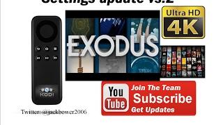 EXODUS  VS 2 Secret settings fix 2017 4K update.Kodi fans