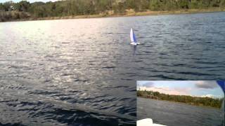 Hobbyking Gemini 600 power sailing catamaran MAIDEN!