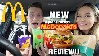 MCDONALDS MUKBANG!! TRYING TΗE NEW MCPLANT BURGER FOR THE FIRST TIME!🍔