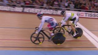 men s sprint gold final track cycling world championships   london england