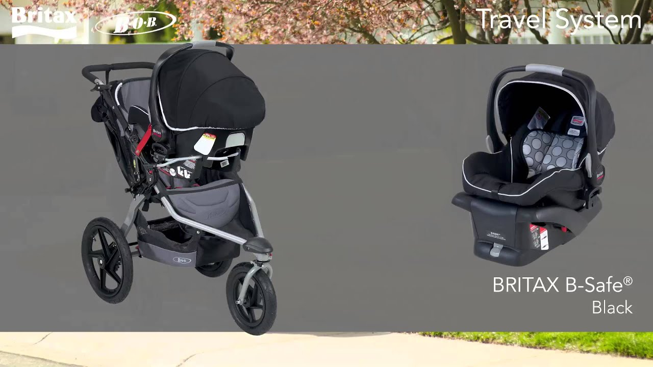 Bob Travel System Revolution Se Stroller And Britax B Safe Infant Car Seat Youtube