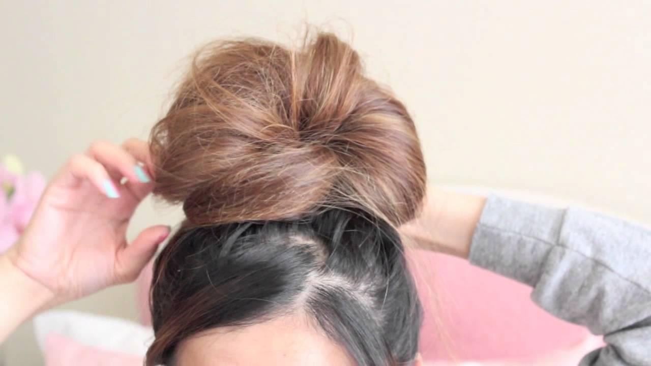 My Simple Messy Bun Hair Tutorial Thatsheart