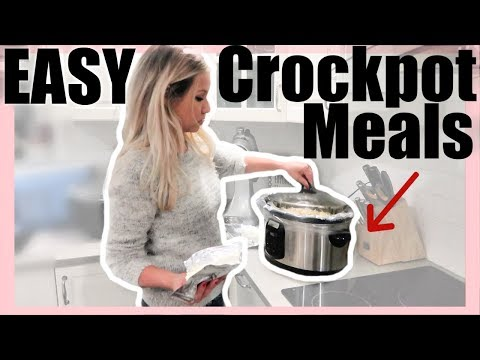 5 EXTREMELY EASY, HEALTHY, & AFFORDABLE CROCKPOT MEALS // BEAUTY AND THE BEASTONS 2019