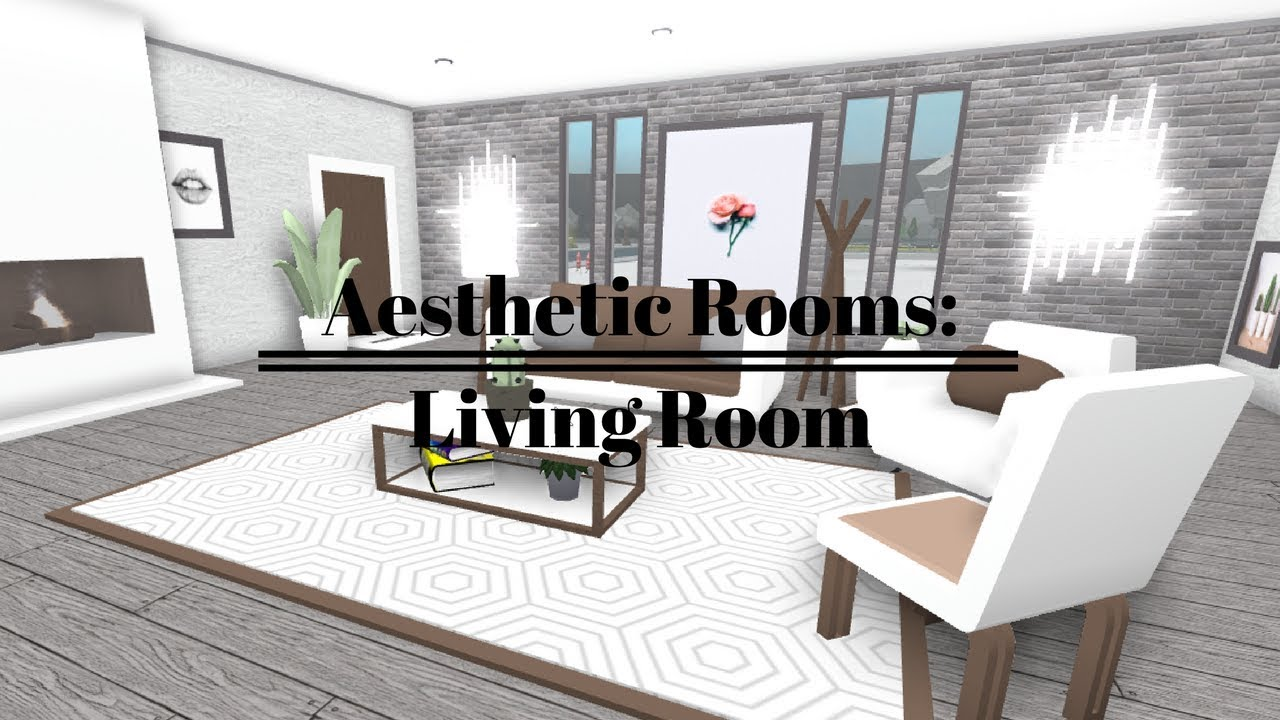 ROBLOX | Welcome To Bloxburg: Aesthetic Rooms - Living Room - YouTube