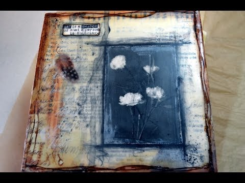 Tutorial, Mixed Media Vintage Bild mit Encaustic Medium[Anleitung in Deutsch]