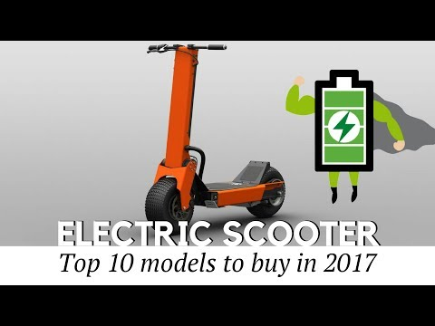 Top 10 Electric Scooters to Buy in 2017 (Prices and Specifications Reviewed)