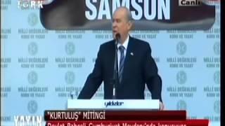 MHP Devlet Bahçeli Samsun Mitingi Konuşması 26.10.2013 Tek Parça