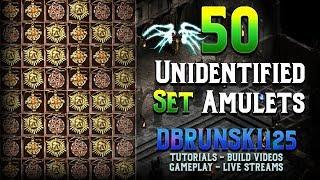 50 Unidentified Set Amulets - Tals? Diablo 2
