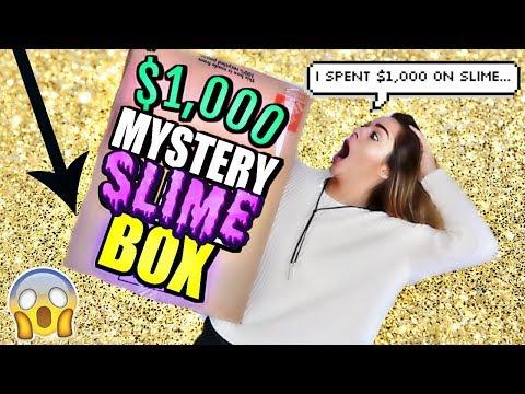 $1,000 SLIME MYSTERY BOX FROM ETSY W/ KARINA GARCIA!  *I bought $1,000 of slime!*🦄 Nichole Jacklyne