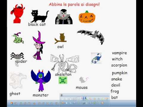 Ricerca Halloween In Inglese.Le Parole Di Halloween Youtube