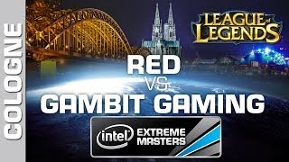 Gambit Gaming vs. RED - Game 2 - Quarterfinal PT - IEM Cologne - League of Legends
