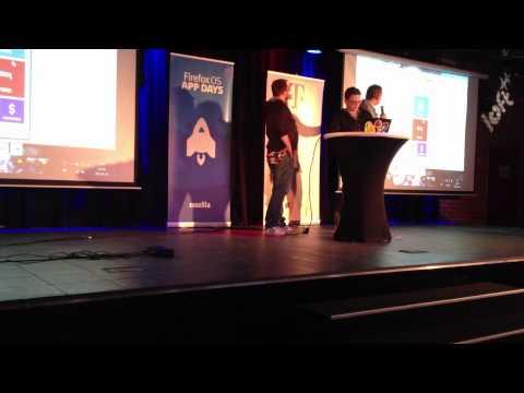 Prezentacja projektu podczas Firefox OS App Day Warsaw 2013 - Drużyna 7