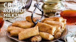 Crispy Rooibos Milk Tart Spring Rolls