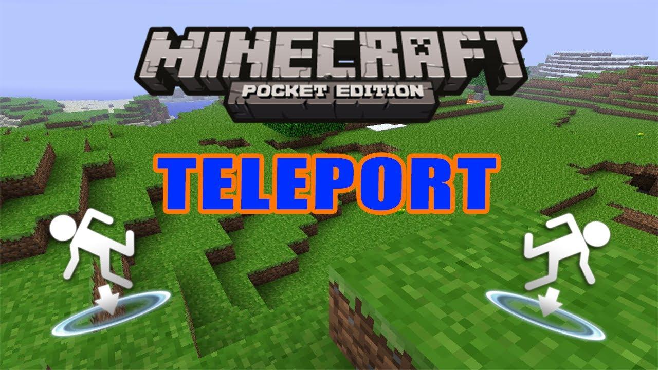 HOW TO TELEPORT IN MINECRAFT PE YouTube - Minecraft server zu anderen spieler teleportieren