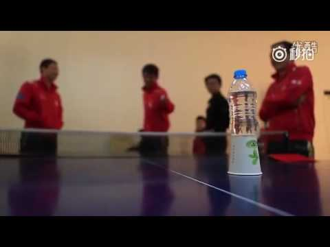 China's national ping pong team showing off their top-notch skills